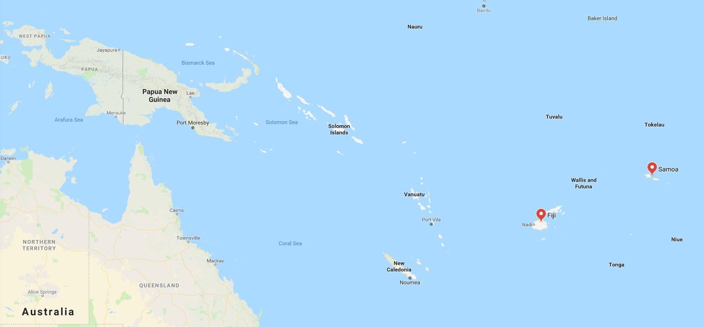 Fiji Samoa PNG